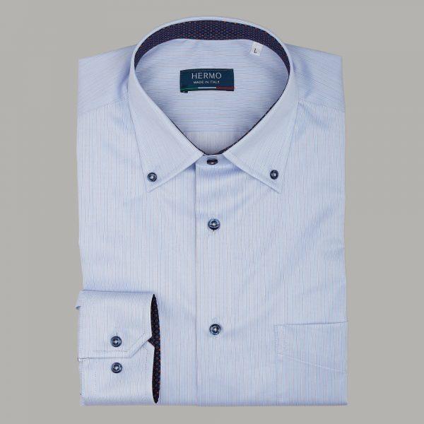 Camicia casual alla moda con inserti fantasia a contrasto