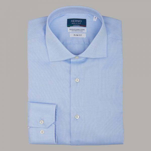 Camicia classica azzurro Oxford non stiro