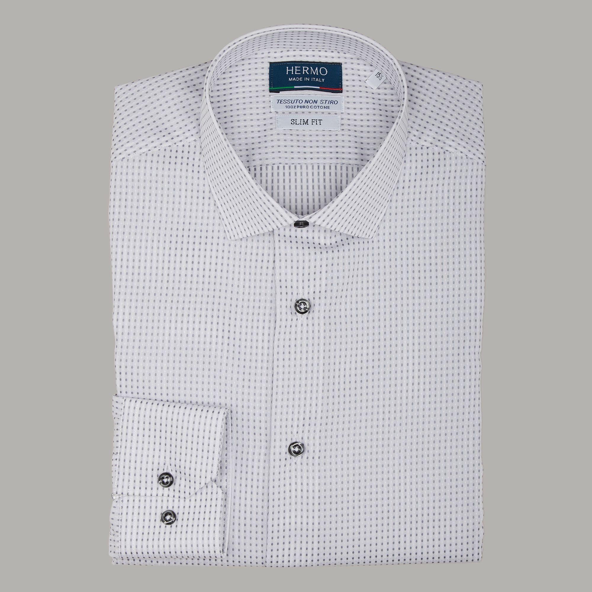 Camicia da uomo slim di tendenza non stiro
