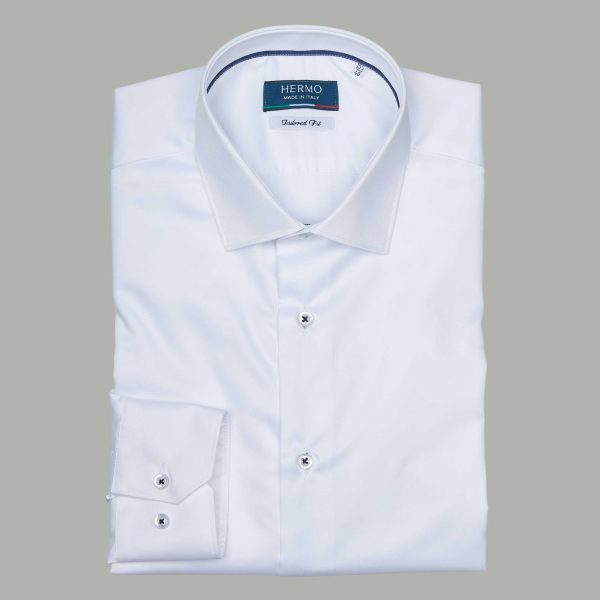 Camicia da uomo bianca tailored fit