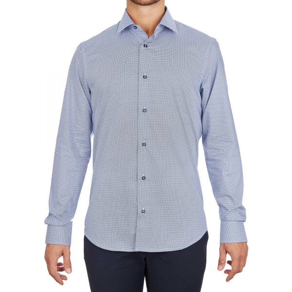Camicia chiara da uomo alla moda made in italy