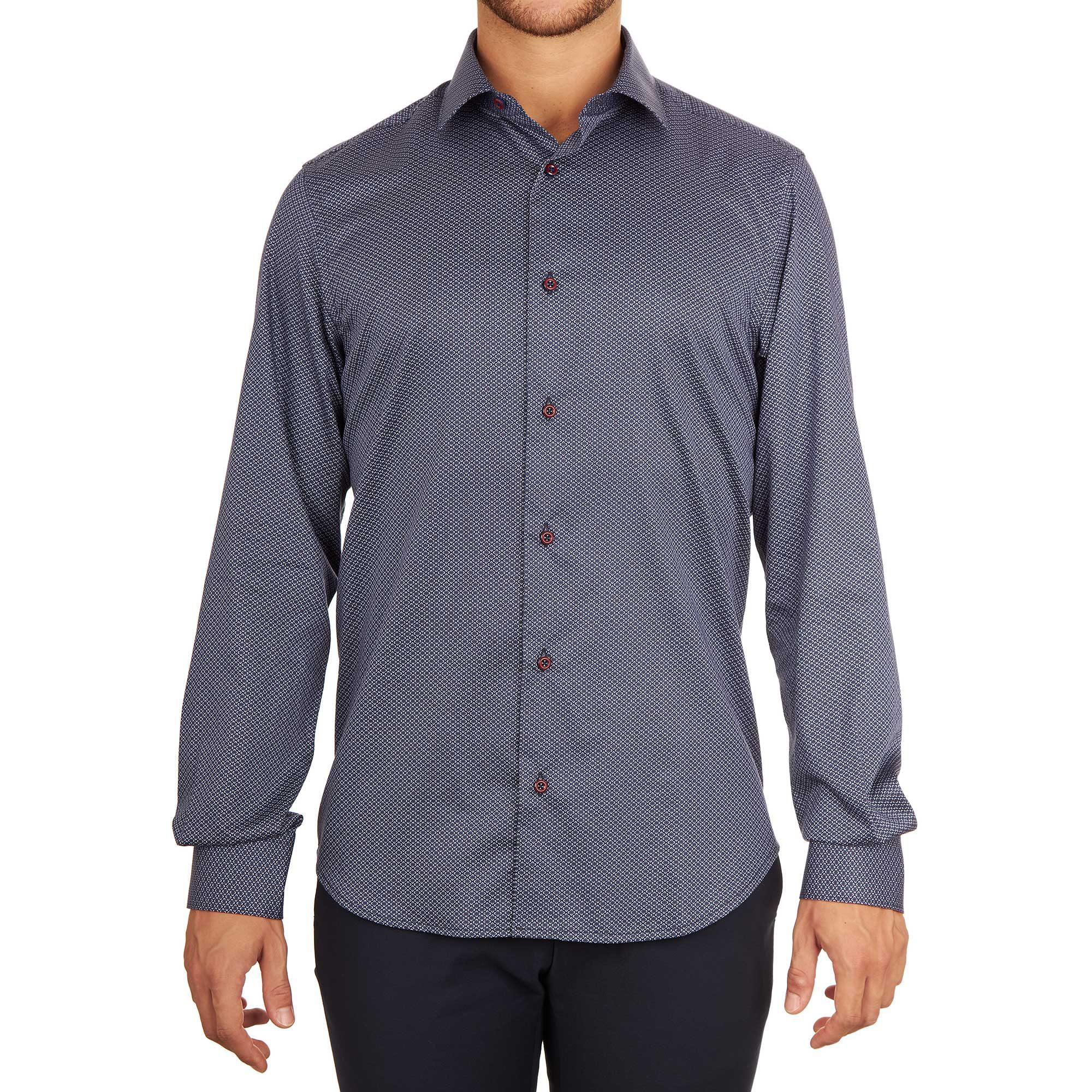 Camicia scura da uomo alla moda made in italy