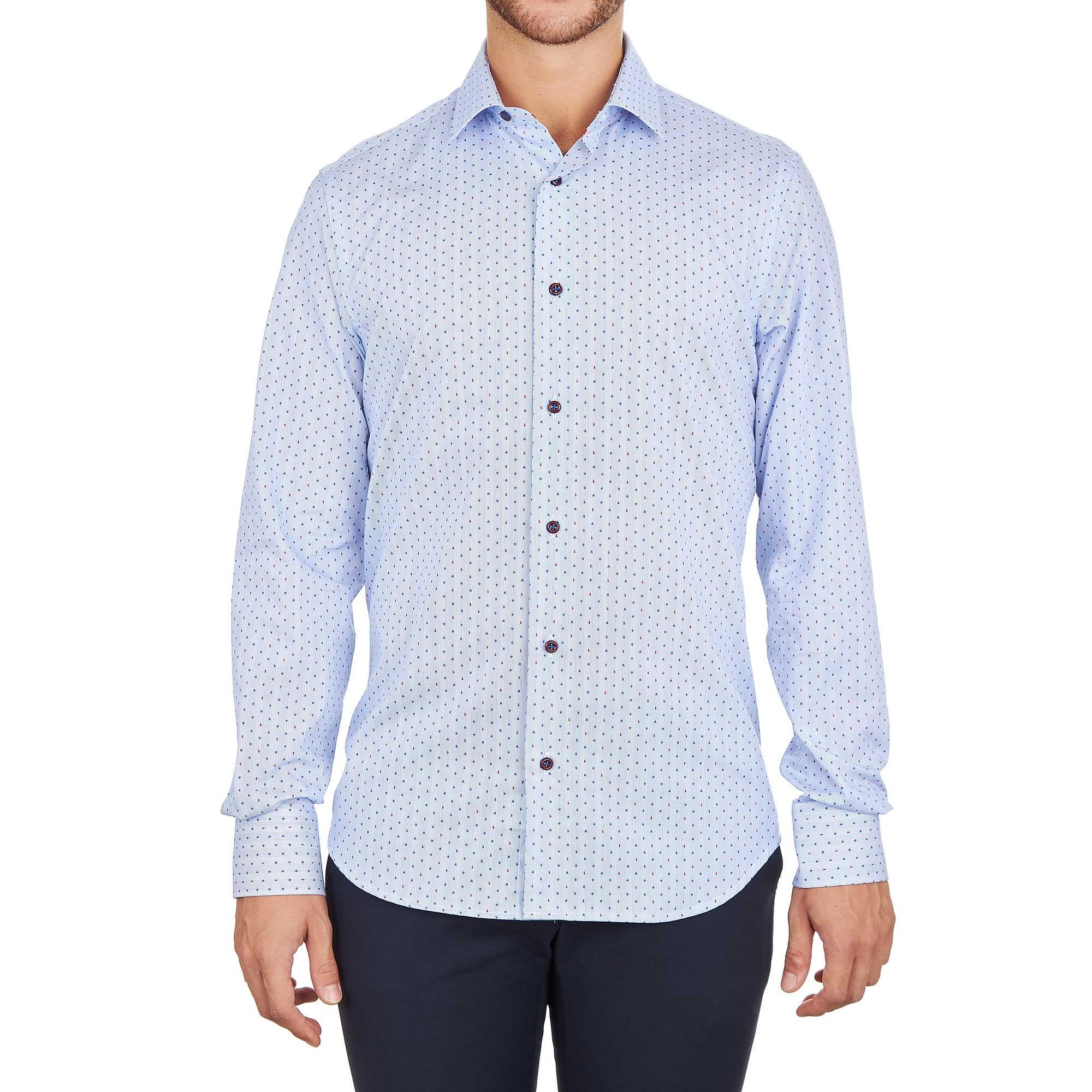 Camicia azzurra da uomo alla moda made in italy