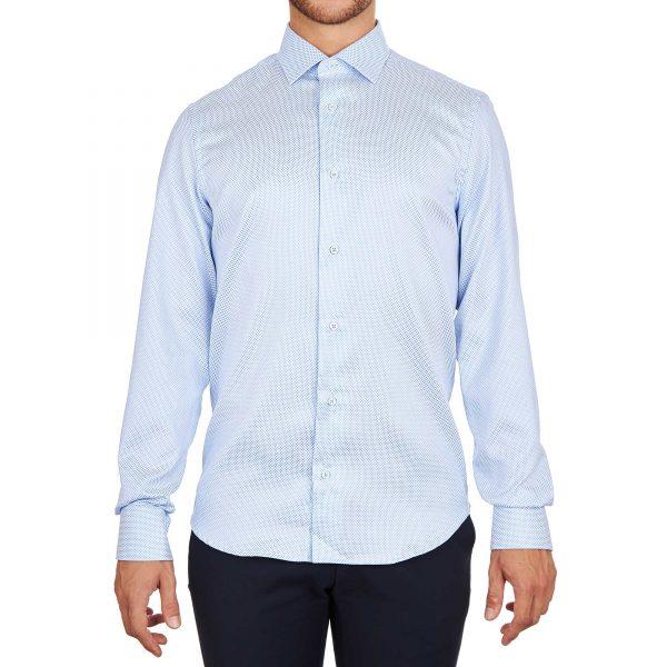 Camicia azzurra da uomo made in italy